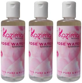 KAZIMA ROSE Water (Gulab Jal) For Skin (3 pcs of 100ML) - Pure Natural & Undiluted