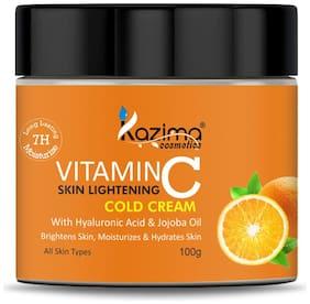 KAZIMA VITAMIN-C SKIN LIGHTENING COLD CREAM with Hyaluronic Acid & Jojoba Oil 100 g