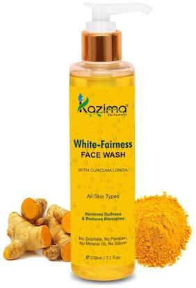 Kazima White Fairness Face Wash (210 ml) - For Removes Dullness & Reduces Blemishes
