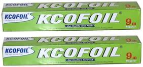 KCOFOIL Aluminium Foil 9mtr Aluminium Foil (Pack of 2)