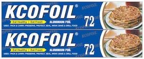 Kcofoil ALUMUNIUM FOIL 72 m Aluminium Foil (Pack of 2)