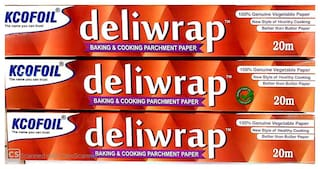 Kcofoil Deliwrap Baking and Cooking Parchment Paper 20m(Pack of 3)