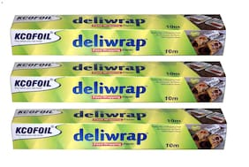 KCOFOIL Deliwrap Food Wrapping Butter Paper Roll 10m (Pack of 3)