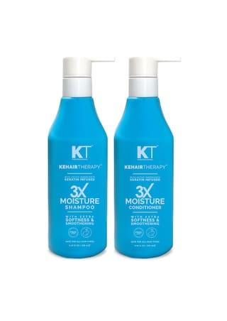 Kehairtherapy Sulfate-Free 3X Moisture Shampoo & Conditioner For All Hair Types 250 Ml (Pack Of 2)