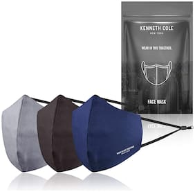 Kenneth Cole Unisex Multicolour Pack Of 3 Anti Pollution Anti Heat Anti Dust Mask Multilayer Reusable Outdoor Face Mask