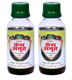 Kesh Action Amrit Ganjnashak Ayurvedic Hair Oil - Pack of 2 (100ml Each)