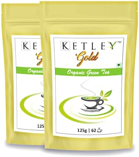 Ketley Gold Premium Organic Green Tea 250g , Pack of 2 of 125g each