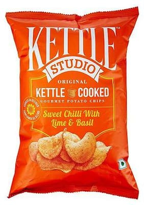 Kettle Studio Potato Chips Sweet Chilli With Lime & Basil 125 Gm