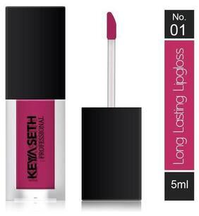 Keya Seth Aromatherapy Long Lasting Lipgloss -01 Rose pink 5 ml (Pack Of 1)