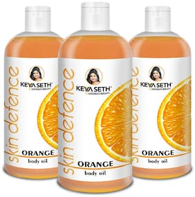 Keya Seth Aromatherapy, Skin Defense Orange Body oil (400mlX3) Combo pack of 3