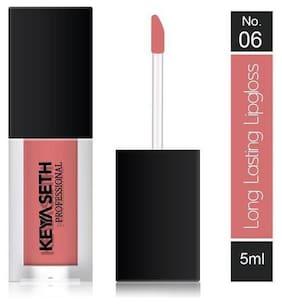 Keya Seth Aromatherapy Long Lasting Lipgloss -06 Dark Nude Pink 5 ml (Pack Of 1)