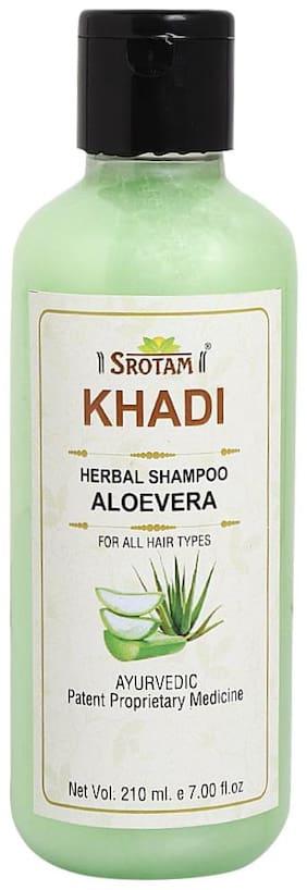 SROTAM Khadi Aloevera Shampoo 210 ml (Pack Of 1)