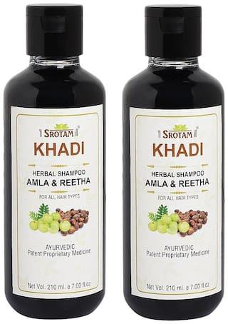 SROTAM Khadi Amla reetha Shampoo 210 ml (Pack Of 2)