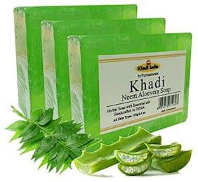 Khadi byPurenaturals Neem Aloevera Soap -125g Pack of 3