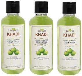 SROTAM Khadi Green Apple conditioner Shampoo 210 ml (Pack Of 3)