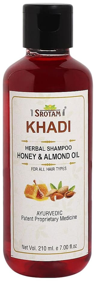 SROTAM Khadi Honey & Almond oil Shampoo 210 ml (Pack Of 1)