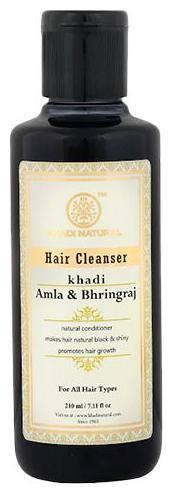Khadi Natural Hair Cleanser Shampoo - Amla & Bhringraj 210 Ml