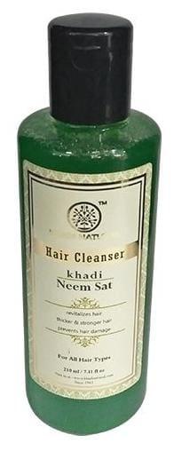 Khadi Natural Hair Cleanser Shampoo - Neem Sat 210 Ml
