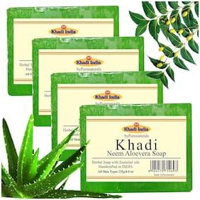 Khadi byPurenaturals Neem Aloevera Soap-125g Set of 4