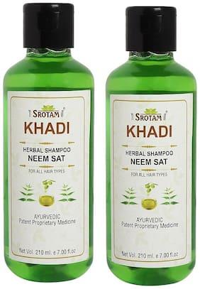 SROTAM Khadi Neem Sat Shampoo 210 ml (Pack Of 2)