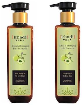 KHADI VEDA Amla Bhringraj Shampoo 200 ml each (Pack Of 2)