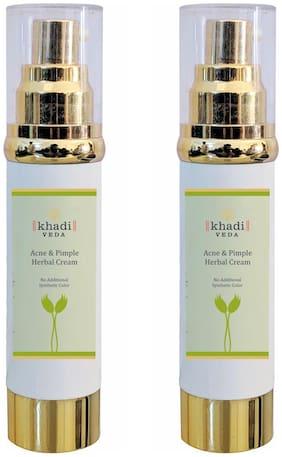 KHADI VEDA Acne Pimple Cream 50g (Pack of 2)