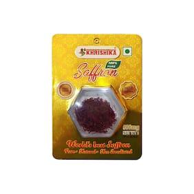 Khrishika Saffron 100% Pure Flakes 0.5g (Pack Of 1)