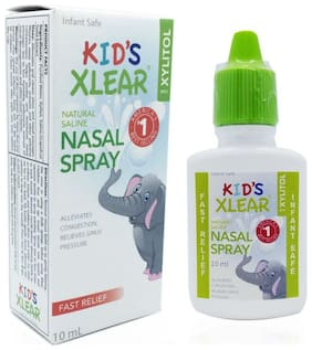 Xlear Inc Kid's Xylitol and Saline Nasal Spray- 10 ml each (Pack of 5)