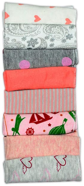 Kidsify Printed Face Cleaning Cloth (Pack of 8)