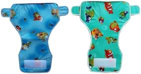 Kidsify Reusable Baby New Born Diaper Towel with Waterproof Plastic Adjustable Size (Set of 2)