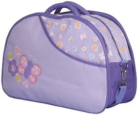 MOMSCAPE Waterproof Baby Diaper Bag Multipurpose, Mothers Maternity Bags for Travel with Diaper Holder Changing Multi Compartment for Baby Care and Maternity Handbag (Purple)