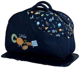 MOMSCAPE Waterproof Baby Diaper Bag Multipurpose, Mothers Maternity Bags for Travel with Diaper Holder Changing Multi Compartment for Baby Care and Maternity Handbag (Navy Blue)
