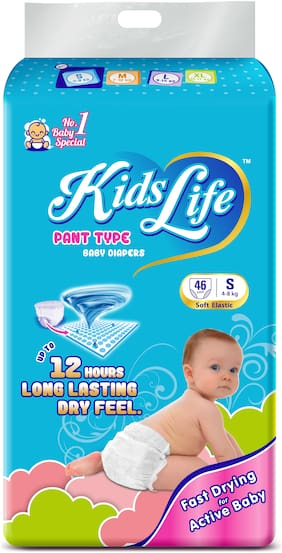 KidsLife Pant Style Baby Diaper Small Size 46 pcs