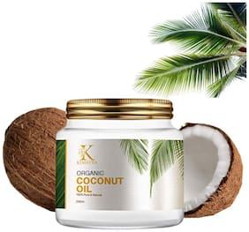 Kimayra World Organic Cold Pressed Coconut Oil with Natural Aroma of Coconut Oil for Hair & Dry Skin | Sulphate & Paraben free (250 ml)