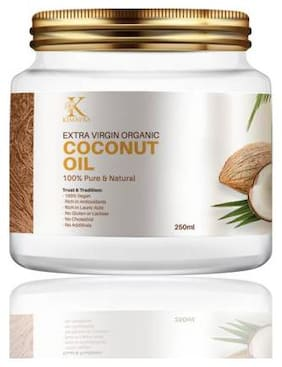 Kimayra World Cold Pressed Extra Virgin Coconut Oil for Strong Hair and Soft Skin (250ml)