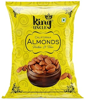 King Uncle California Almond Kernels (Badam Giri) - 250g (Pack of 2)-Yellow Pack