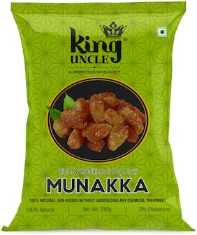 King Uncle Premium Quality Munakka Green Pouch 250g (Pack of 4)
