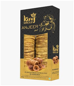 King Uncle Top Quality Anjeer Dried Figs Vacuum Golden Pack 250g (Pack Of 2)