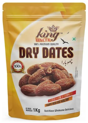 King Uncle Dry Dates kala chuara Yellow Pack 1 kg (Pack of 1 )