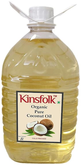 Kinsfolk Organic Pure Coconut Oil (Cold Pressed) - 5 L