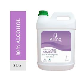Klenz Instant Hand Sanitizer gel Lavender 5 L  (Pack of 1)