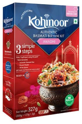 Kohinoor Biryani Basmati Rice Kit - Authentic Awadhi 327 g