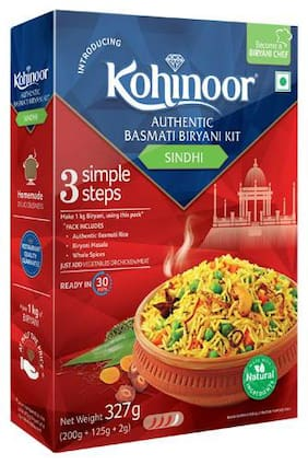 Kohinoor Biryani Basmati Rice Kit - Authentic Sindhi 327 g