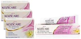 HealthVit Kozicare Skin Whitening Kit 3 Soap + 1 Cream (For Whiter & Brighter Skin)