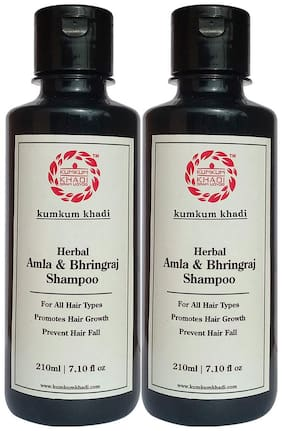 Kumkum Khadi Herbal Amla & Bhringraj Shampoo 210ml (Pack of 2)