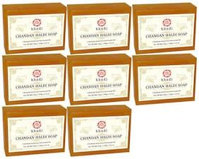 Kumkum Khadi Herbal Chandan Haldi Soap  125g (Pack of 8)