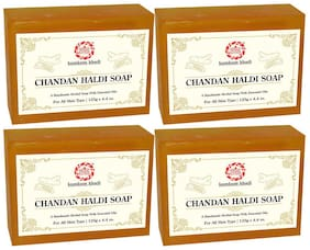 Kumkum Khadi Chandan Haldi Soap 125 g (Pack of 4)