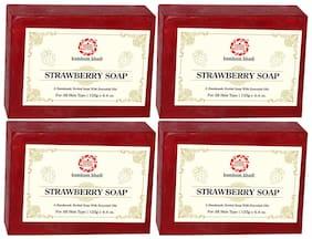 Kumkum Khadi Strawberry Soap 125 g (Pack of 4)