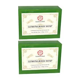 Kumkum Khadi Herbal Lemongrass Soap 125g (Pack of 2)