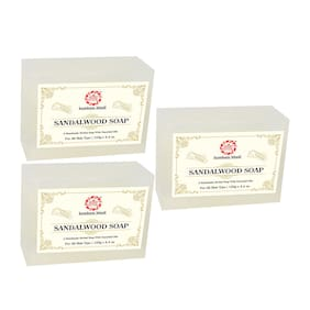 Kumkum Khadi Herbal Sandalwood Soap 125g (Pack Of 3)
